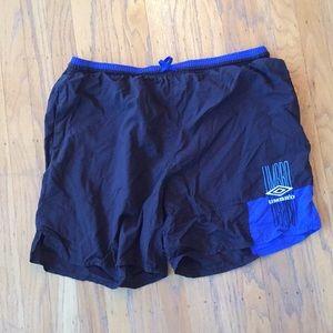 Umbro black blue retro shorts L